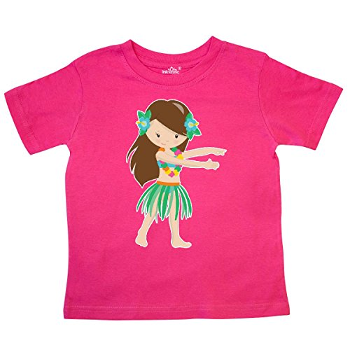 inktastic Brown Haired Hula Girl Toddler T-Shirt 4T Hot - Haired Brown Girl