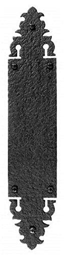 Acorn 3 Inch x 15 Inch Warwick Push Plate Rough Iron