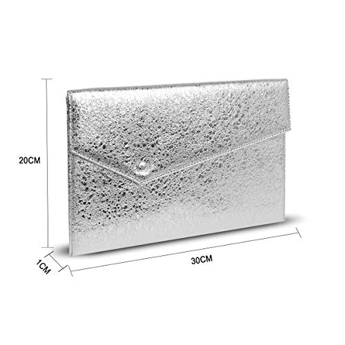 Suede Chain Purse Clutch Magnet GESSY Women Hook Silver Faux with Strap Envelope Pocket qwRF4CE