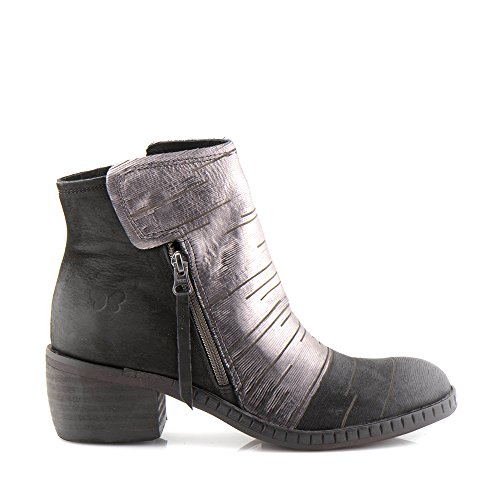 Felmini - Zapatos para Mujer - Enamorarse com Monar 1017 - Botas con cremallera - Cuero Genuino - Negro Negro