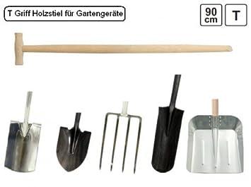 3 Spatenstiele Holzstiel T-Griff 115 cm lang /Ø 36 mm Ersatzstiel