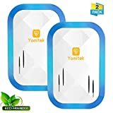 Yomitek Pest Control Ultrasonic Repeller for Mosquitoes,Insects,Spiders,Mice,Rats,Roaches,Bugs,Flies for Home Indoor- Upgraded Dual Speaker Non-Toxic Eco-Friendly,Human & Pet Safe(2 Pack)