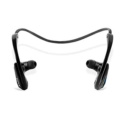 InFlex Waterproof Bluetooth MP3 Player & Headphones Sports Headphone 2-in-1 8Gb memory, store up to 2,500 song By Pyle (PSWP9BTBK)