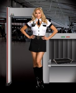 Adult Tsa Officer Costumes (Strip Search Officer Tara U Clothes Off Adult Costume - X-Large)