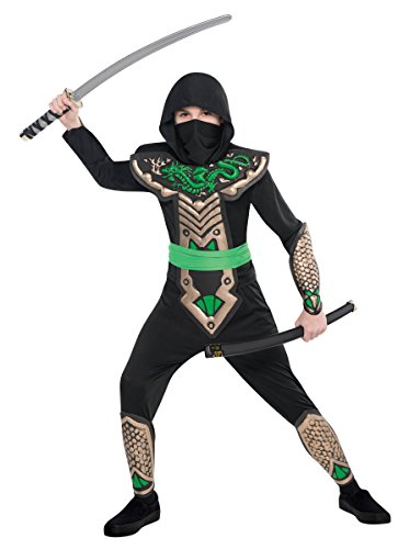 Boys Dragon Slayer Ninja Costume - Size Medium (8-10)
