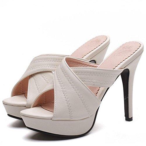 Zanpa 2 Mules Aiguilles blanco Femmes Sandales Talons qrxFqwH1R