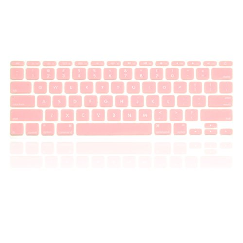 TOP CASE - Silicone Keyboard Cover Skin Compatible with Macbook Air 11 Model: A1465 - Rose Quartz