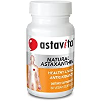 Astavita Healthy Living Antioxidants with Natural Astaxanthin to Support Overall Health (Non-GMO Project Verified and Gluten Free, Contains 60 Vegan Softgels)