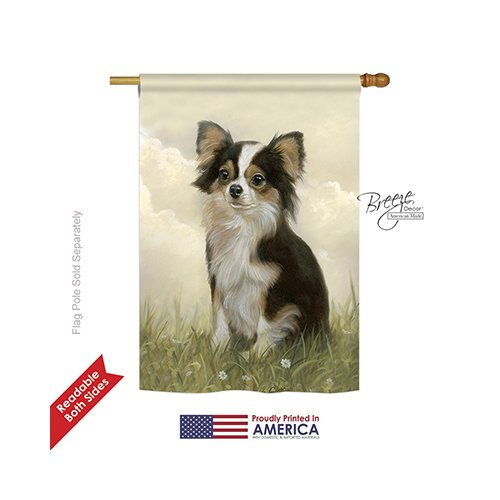 Breeze Decor PT-H-110094-IP Chihuahua Decorative Vertical House Flag, 28″ x 40″, Multicolor For Sale