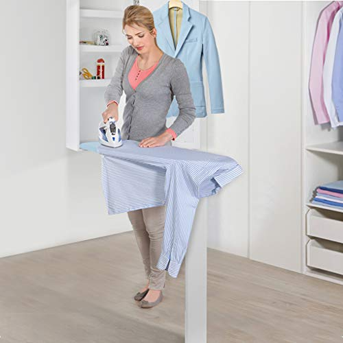(UStyle Ironing Board Cabinet with Dressing Mirror and Storage Shelves Multi-Function Wall Mount)