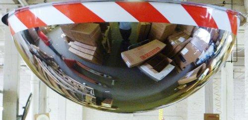 "See All PV18-360RT Panaramic Full Dome Plexiglas Security Mirror, 360 Degree Viewing Angle, 18"" Diameter"