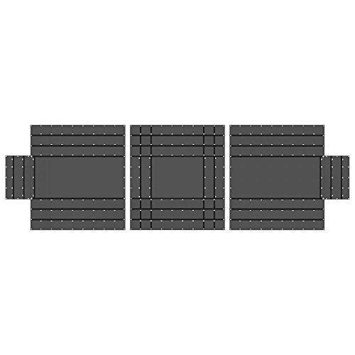 (US Cargo Control 18 oz. 3 Piece Lumber Tarp - 20' x 18' (6' Drop) for All 3 Pieces - Black)