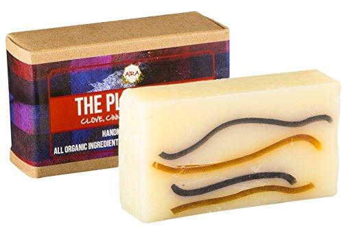 AIRA Handmade Organic Soap – Herbal Body Soap – Clove, Cinnamon, Pine, Citrus Scent - Certified Organic Ingredients & Therapeutic Essential Oils – All Purpose No-Chemical Handmade Soap (4 Ounces) (All Purpose Shampoo Bar)