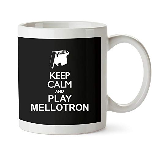Mellotron Instruments - Idakoos - Keep calm and play Mellotron silhouette - Instruments - Mug