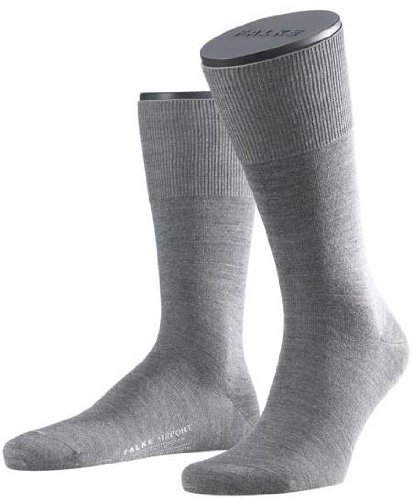 Falke Mens Wool/Cotton Airport Socks - Grey - Small