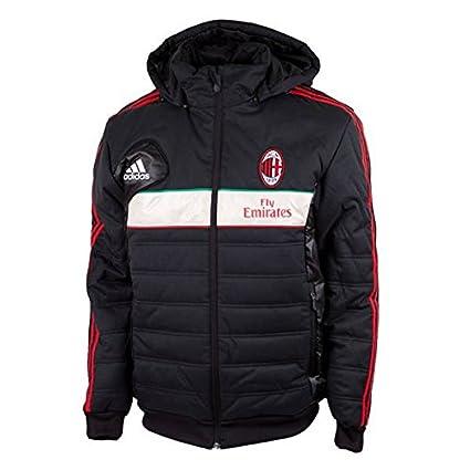 Imbottito Adidas Giubbino Milan Ac Cappuccio Giubbotto Giacca q4rHw5t4