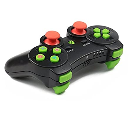 Vicstar Mando de Juego inalámbrico con Doble Vibración para PS3 Playstation, Mando Controlador Joystick de Juegos inalámbrico Game Controlador Gamepad para ...