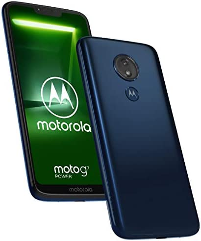 Motorola Moto G7 Power 32GB+4GB RAM XT1955-2 LTE Factory Unlocked GSM 5000mAh Battery Smartphone (International Version) (Marine Blue)