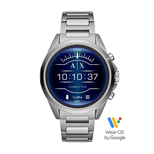Armani Exchange Smartwatch con tecnología Wear OS by Google, Google Assistant, Notificaciones de Smartwatch y Google Fit