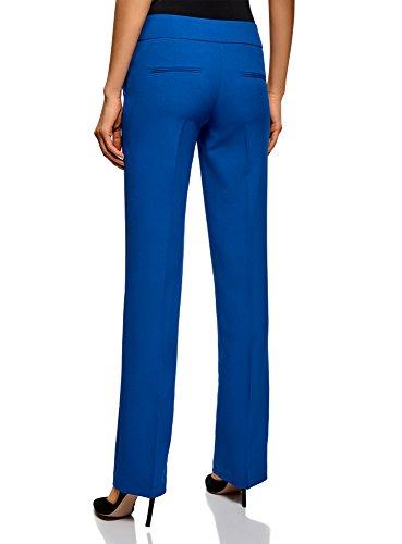 Blu con Pantaloni Piega Donna Classici Ultra 7500n oodji xzwC6qSnO