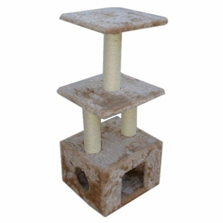 "Majestic Pet 40"" Casita Cat Tree, Tan"