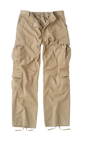 Fatigues Paratrooper Vintage Khaki Pants - Rothco Khaki Vintage Paratrooper Fatigues (Medium)