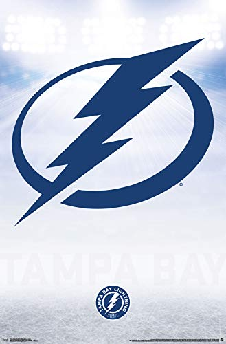 Trends International Tampa Bay Lightning-Logo Mount Bundle Wall Poster 22.375