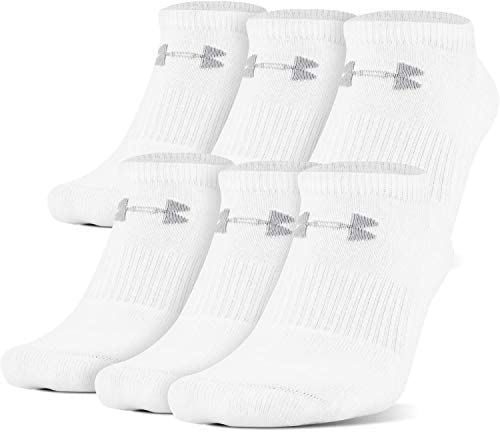 6-Pairs Under Armour Unisex-Child Charged Cotton 2.0 No Show Socks