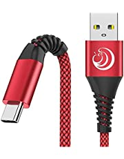 Type C Charging Cable Aioneus 3A Fast USB C Charger Cord【2Pack 6FT】Phone Charger for Samsung Galaxy S21 S20 FE S10e S10 S8 Note 20 A11 A20 A21 A10e A50 A51 A70, LG K51 Stylo 4 5 6 ThinQ, Moto G8 Power and PS5