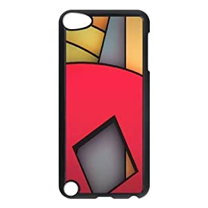 Doah Red Pattern & Red Texture Ipod Touch 5 Cases Funky Red, Red Pattern & Red Texture, {Black}
