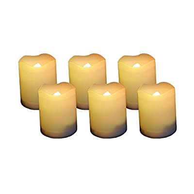Candle Choice Set of 6 Votive Flameless Candles with Timer, 400-hour Battery Life
