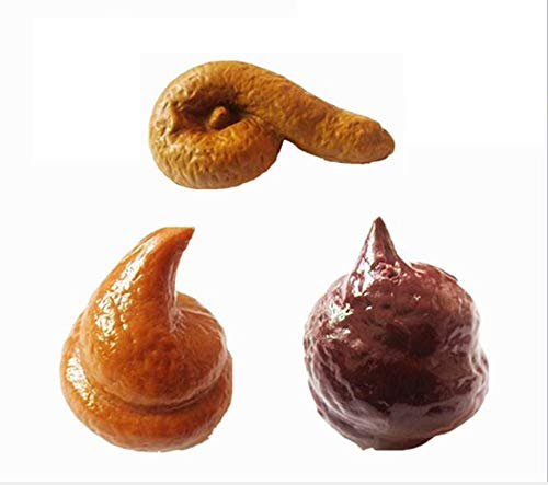 Easyinsmile Funny Joke Fakes Human Poop Realistic Shits Poop Prank Toys for April Fool's Day and Halloween Party (3pcs) ()