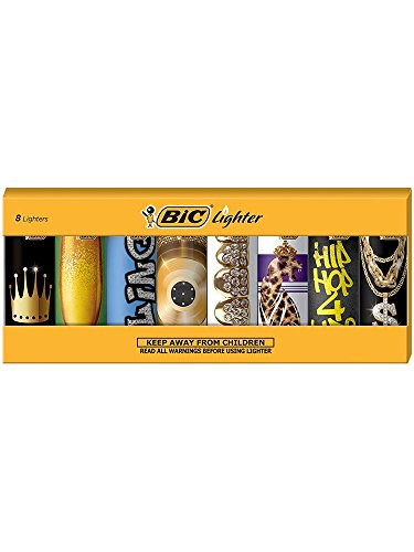 BIC Special Edition Hip Nation Series Lighters, Set of 8 Lighters