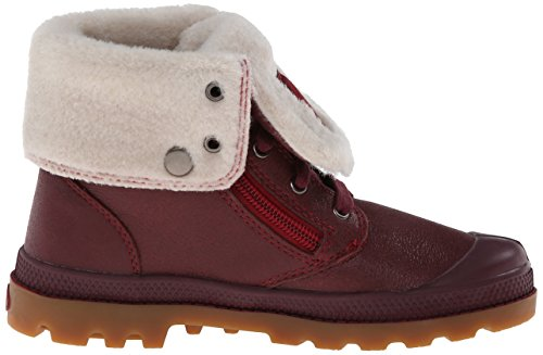 Palladium BAGGY LEATHER S M Unisex-Kinder Desert Boots Pink (WINE/GUM/RIO RED 653)