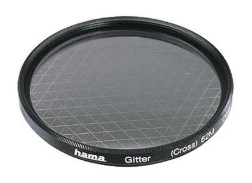 Hama Effekt-Filter, Sternfilter, 6-strahlig, 2-fach Vergütung, Für 58 mm Foto-Kameraobjektive, Gitter