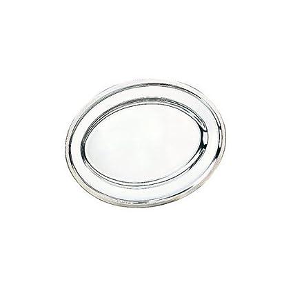 Ibili Clásica - Bandeja oval, inox, 35 centímetros