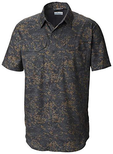 Columbia Men's Silver Ridge Lite Plaid Short Sleeve Shirt, Large, Beach Tent Camo