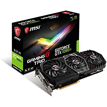 MSI GAMING GeForce GTX 1080 Ti 11GB GDDR5X 352-bit DirectX 12 VR Ready Graphics Card Black/Black (GTX 1080 TI GAMING X TRIO)
