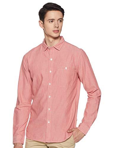 Levi's 24818-0021 Men's Regular Fit Plain Crew Neck Shirt, Red, 2X-Large