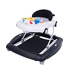 2-in-1 Car Walker and Rocker,Jumparoo Baby Bouncer,Baby Walkers for Boys 6 Months,Anti-Rollover walkers Detachable Game…