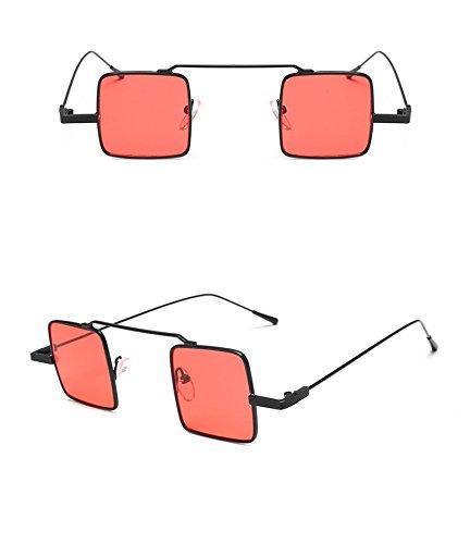 UV400 forma cuadrada polarizadas de DaoRier metal de amarillo sol con Gafas xgwgCfq7W