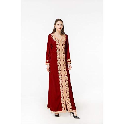 De Capa Cxlyq Solos Las Mujeres Red Una Cordón Vestidos Manera Vestido Color Impermeables Sola Sólido Moda Cuentas La Del Y55xIrqw