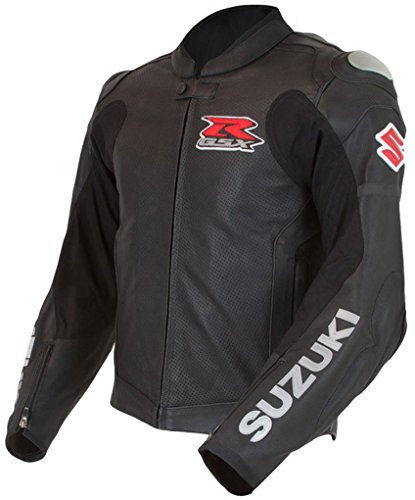 Suzuki GSXR Gixxer GSX-R Leather Riding Jacket Black Large