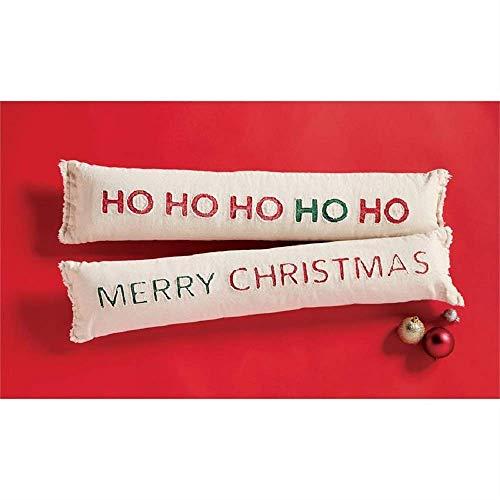 Mud Pie Ho Ho Ho Christmas Skinny Long Pillow (Mud Christmas Pillows Pie)