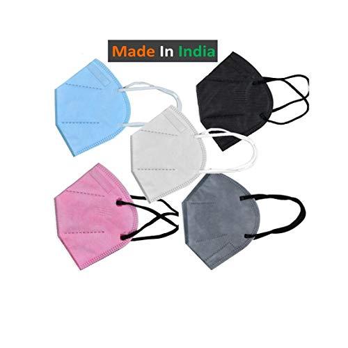Tdas n-95 face mask for men women reusable CE-certified masks- 5 Pcs Masks