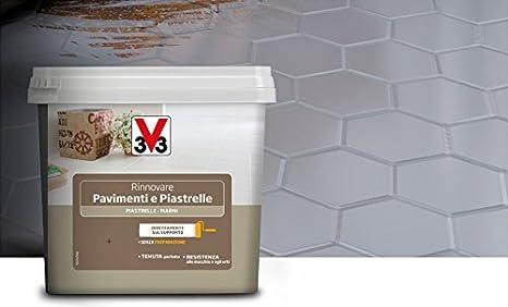 Pittura Lavabile Su Piastrelle : V rinnova pavimenti e piastrelle ml bianco satinato