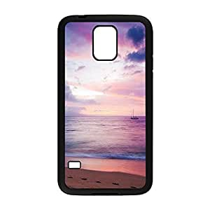 Dreamy Sea Boat Beach Protective Hard PC Snap On Case for Samsung Galaxy S5-1122071