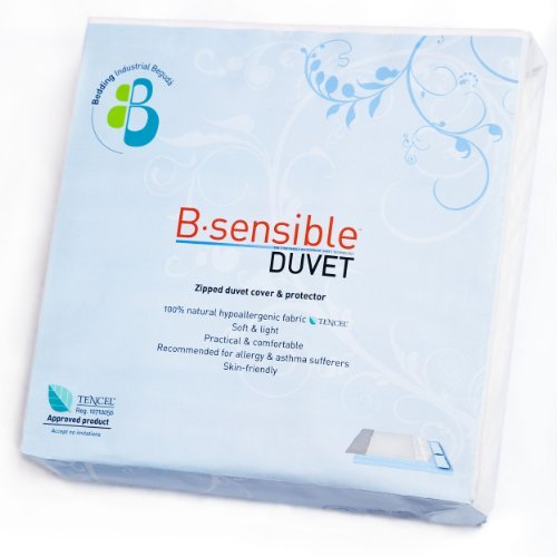 B.Sensible Tencel Duvet Cover and Waterproof Protector Size 260 x 220cm (fits super king bed, 180 x 200cm) in White. 5060245951579