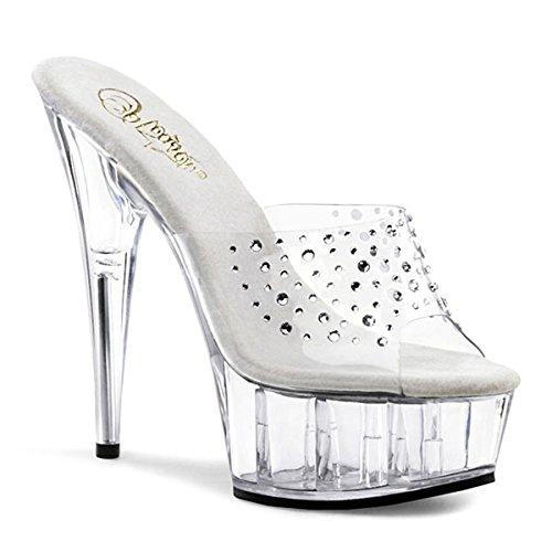 Heels-Perfect - Pantuflas de caña alta de material sintético mujer transparente - transparente