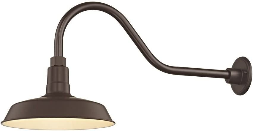 Bronze Gooseneck Barn Light with 12 Shade